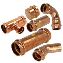 Copper gas press fittings contour (V)