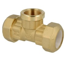 Brass screw fitting for PE-pipe