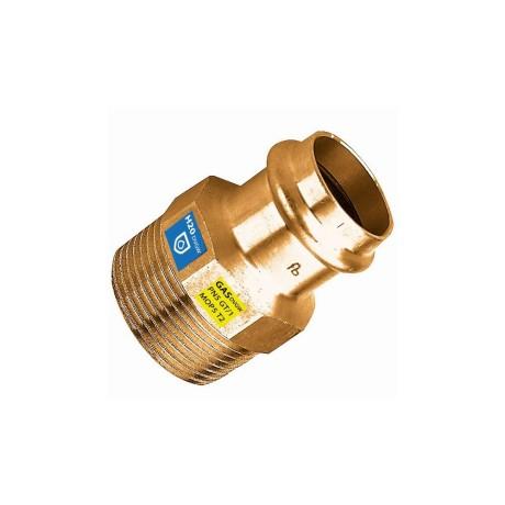 10 x Frabo Gas Wasser Kombifitting Pressfitting V Kontur Bogen 90° IG//IG 22mm