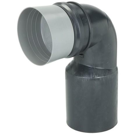 pe wand wc anschlussbogen 90 mit bauschutz 90 110 schwarz. Black Bedroom Furniture Sets. Home Design Ideas